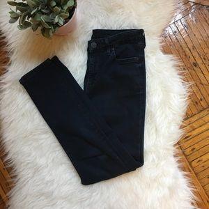 TopShop High Waist Dark Wash Moto Jean
